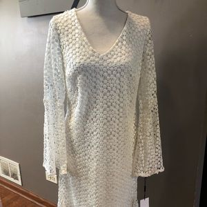 NWT Karl Lagerfeld Ivory Lace Dress Size 6